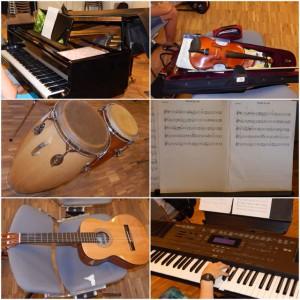 Instrumentenauswahl des Orchesters