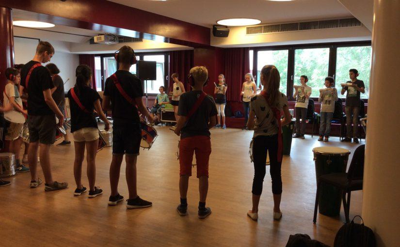 Laut aber schön- der Latin Percussion Kurs der MuWe 2016
