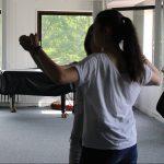 Stolze Haltung beim Üben.